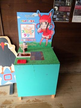 ショウジョウトキスタンプ台とインカアジサシパネル(ネイティブ)@日本平動物園