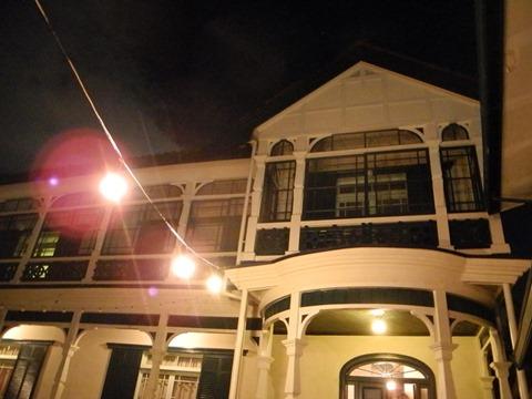 夜の旧グッゲンハイム邸@塩屋