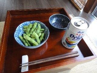 オリオンビールと枝豆