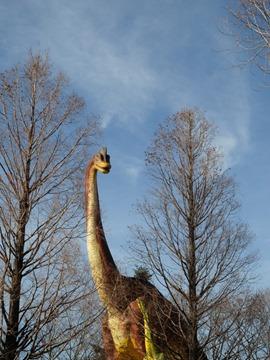 野外恐竜ランドのブラキオサウルスさん親子@のんほいパーク